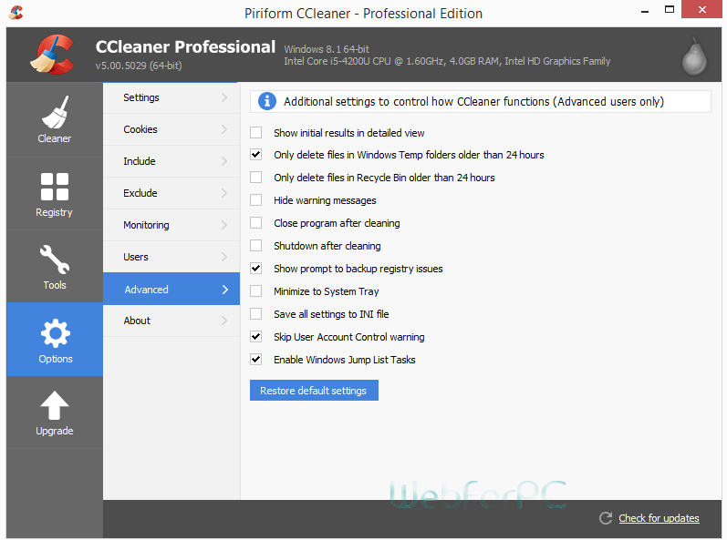 CCleaner Professional Free Download