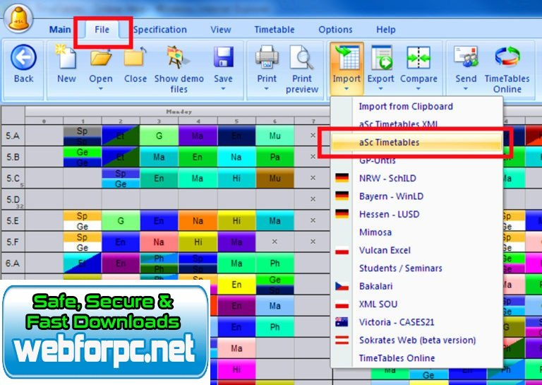 aSc Timetables 2020 Free Download